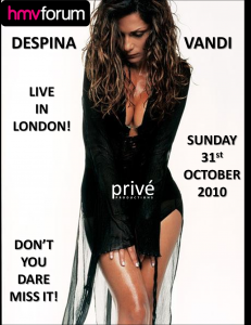 DESPINA VANDI - LIVE@ HMV FORUM - SUNDAY 31st OCTOBER 2010